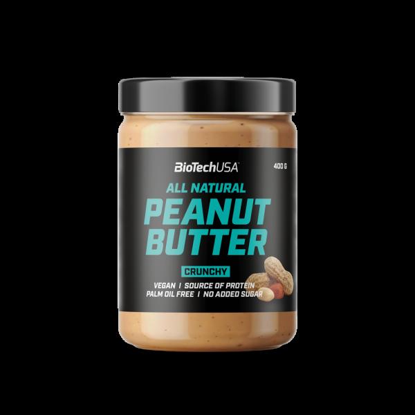 PEANUT BUTTER|חמאת בוטנים טבעונית עשירה בחלבון 400 גרם