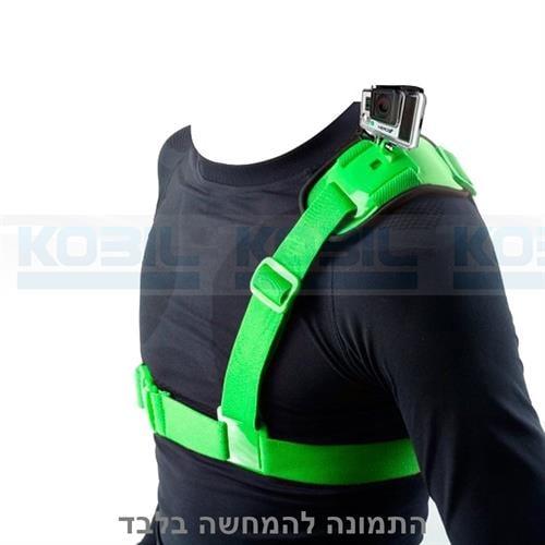 רצועת כתף למצלמת גו פרו רצועה לכתף GoPro Hero בצבע ירוק מבית NEOPINE
