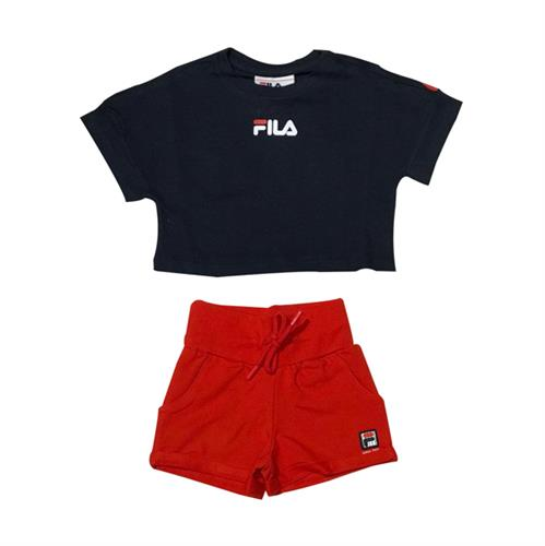 חליפת טופ כחול ושורט אדום - FILA - מידות 2 עד 8 שנים