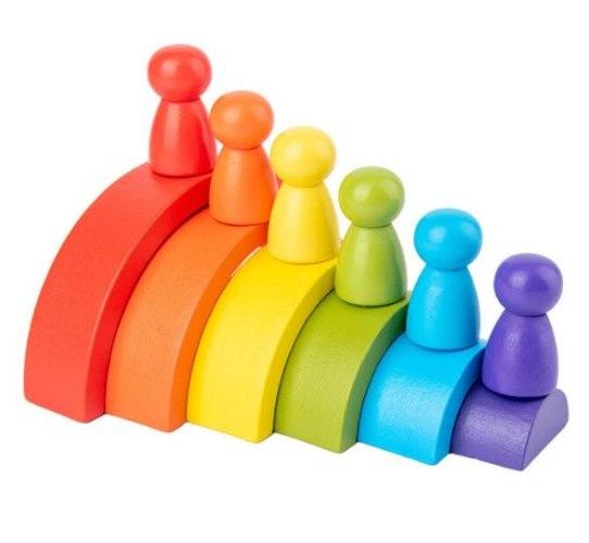 משחק התפתחות - קשתות עץ צבעוניות