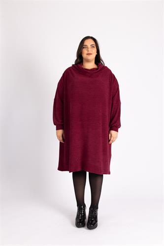 שמלת גלרי בורדו