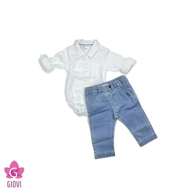 חליפה מכופתרת ב.גוף וג'ינס תינוקות