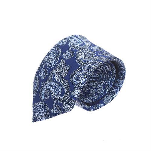 עניבה פייזלי כחול עמוק