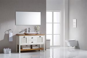 ארון אמבטיה עומד עץ מלא דגם קינג 80-160