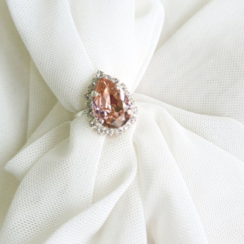 טבעת טיפה מיני - רוז כסף