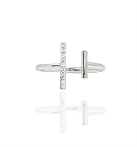 טבעת בר זרקונים פתוחה טבעת זהב פתוחה מעוצבת