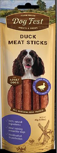 חטיף לכלב דוג פיסט מקלות ברווז 45 גרם