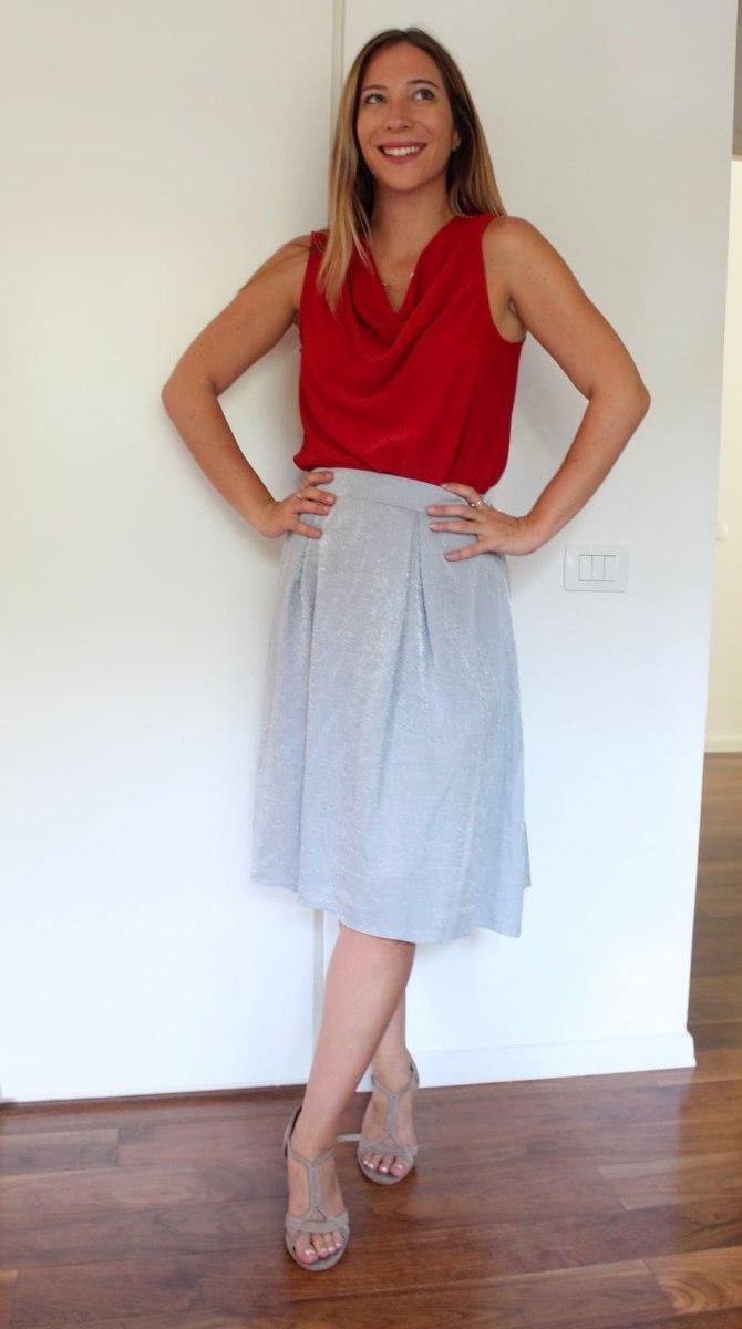 חצאית מידי אפורה