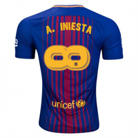 חולצת משחק ברצלונה בית - אינייסטה infinity
