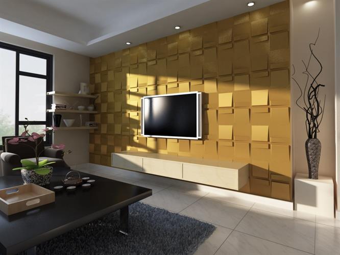 חיפויי קיר תלת מימדי דגם ''echo'' בגודל 50X50