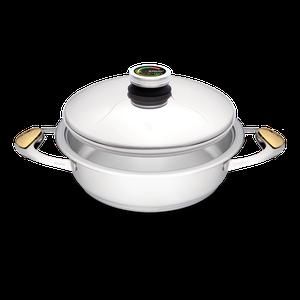 """סיר לבישול בריא בנפח 3 ליטר, קוטר 24 ס""""מ"""