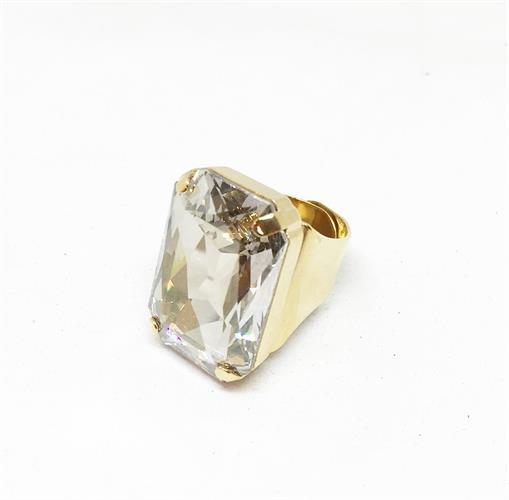 טבעת איריס לבן זהב
