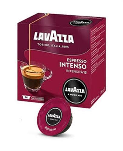 36 קפסולות קפה  LAVAZZA A MODO MIO מקורי , תערובת Intenso -סגול בורדו
