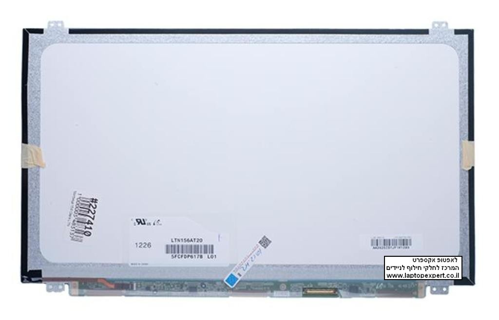 מסך / צג להחלפה במחשב נייד Samsung LTN156AT20 Slim 15.6 WXGA HD laptop LCD screens