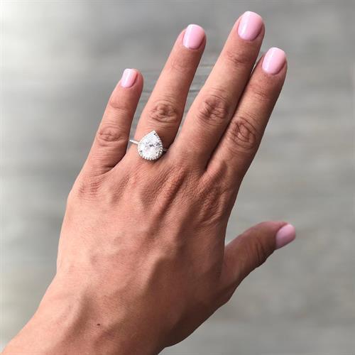 טבעת טיפה בינונית - כסף 925