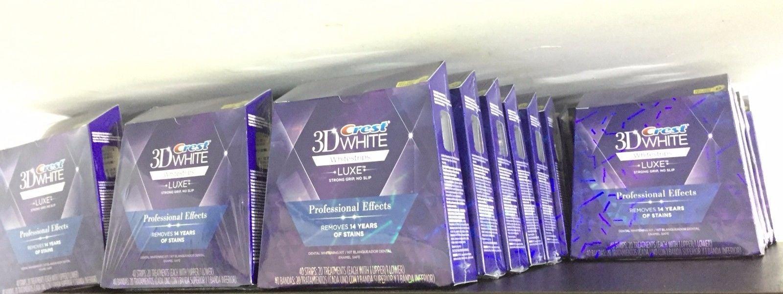 עדכון מעודכן קרסט ערכה להלבנת שיניים 40 פסים! Crest 3D White Professional Effects XS-15