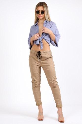 מכנס קפרי כותנה