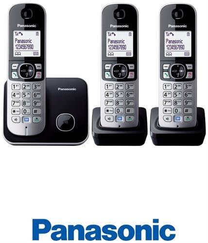 Panasonic טלפון אלחוטי + 2 שלוחות דגם KX-TG6813MBB
