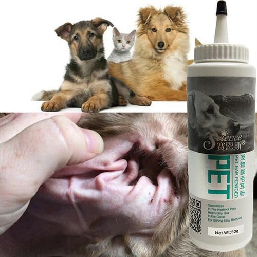 אבקה בריאות לאוזניים של חיות המחמד