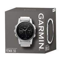 Garmin Fenix 5S Silver with Carrara white band