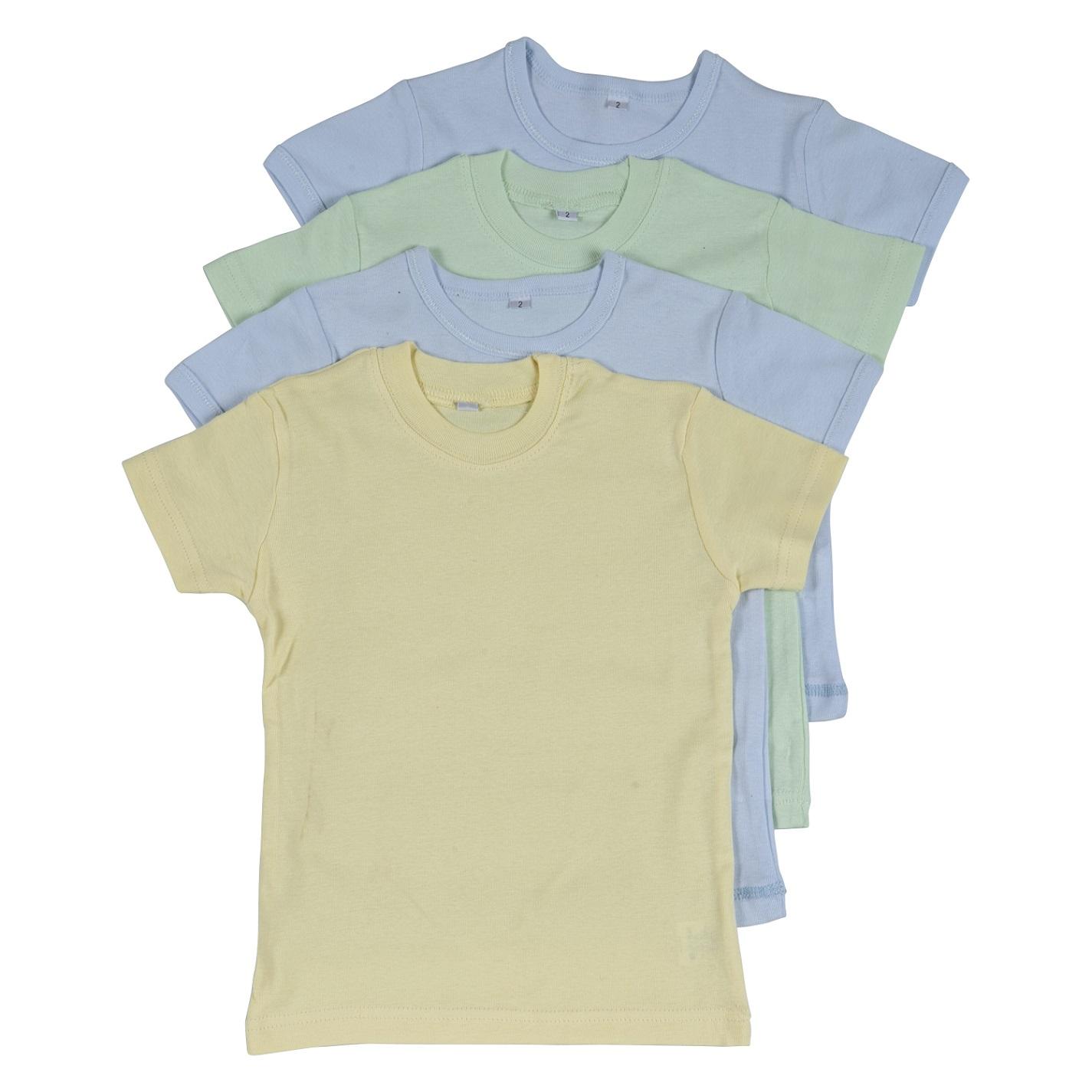 רביעיית חולצות ריפ 2 תכלת-צהוב-ירוק