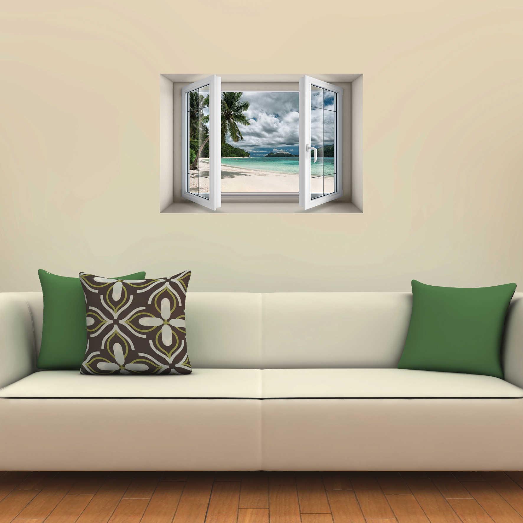 חלון בנישה חוף ים ביום סגרירי דגם 5011