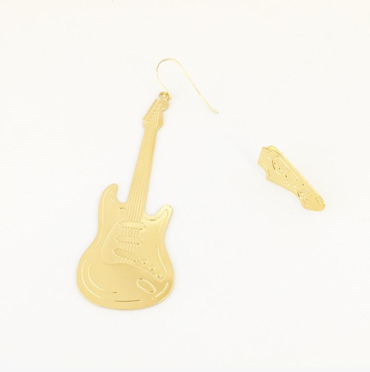 עגילי גיטרה זהב