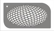 כוורת תלת מימד  [t015] - שבלונות איכותיות tra-fa-ret stencils