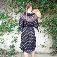 שמלת אגם בורדורה פרחוני