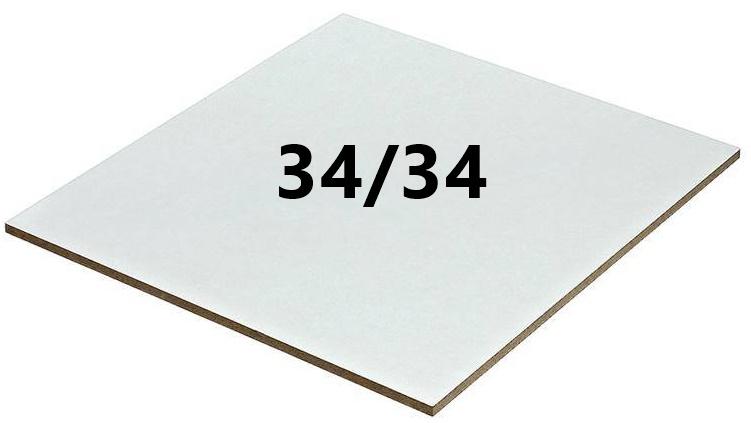 מארז 10 יחידות - משטח MDF במידה 34/34 בציפוי לבן