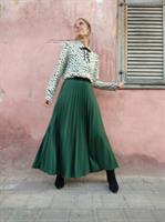 חצאית פליסה ירוקה