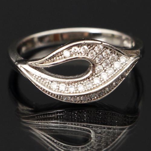 טבעת כסף משובצת זרקונים RG9169