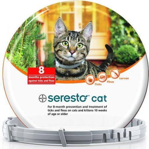 סרסטו seresto לחתול נגד פרעושים וקרציות יעיל עד 8 חודשים
