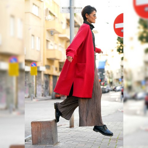 מעיל WEST - אדום