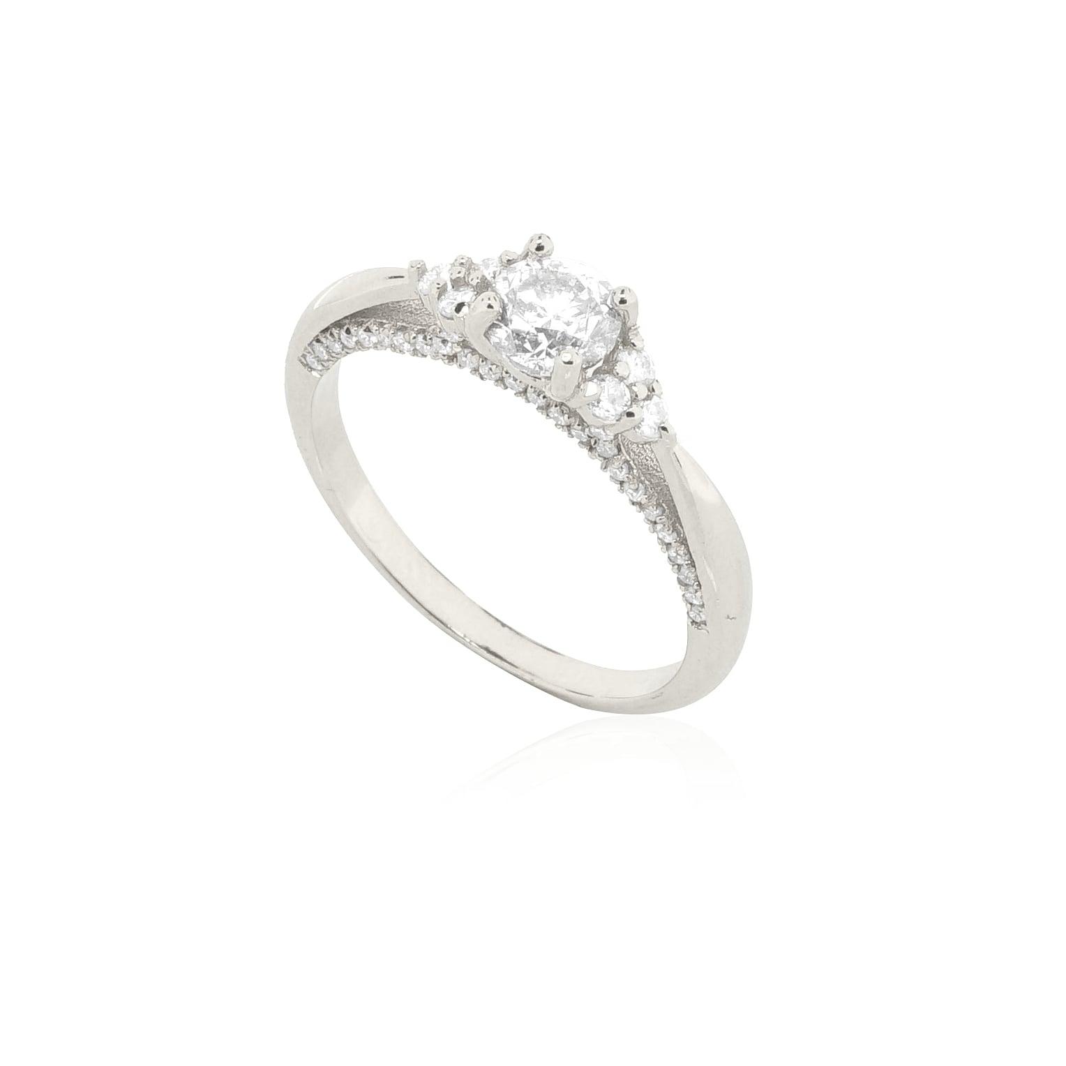 טבעת אירוסין יהלומים מרהיבה בזהב 14 קרט