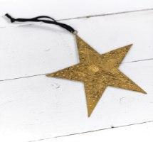 כוכב שטוח ממתכת - זהב חלודה (גודל L)
