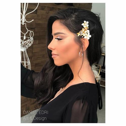 סיכת פרחים קסניה- זהב לבן