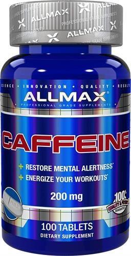 "ALLMAX - caffeine - קפאין 200 מ""ג|מחיר מוזל"