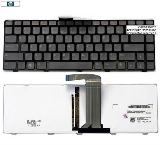 מקלדת מקורית דל מוארת לדגמים Dell Inspiron N4110 M5040 M5050 N5040 N5050 Laptop Keyboard X38K3
