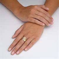 טבעת ספירלי עם טיפת מזל