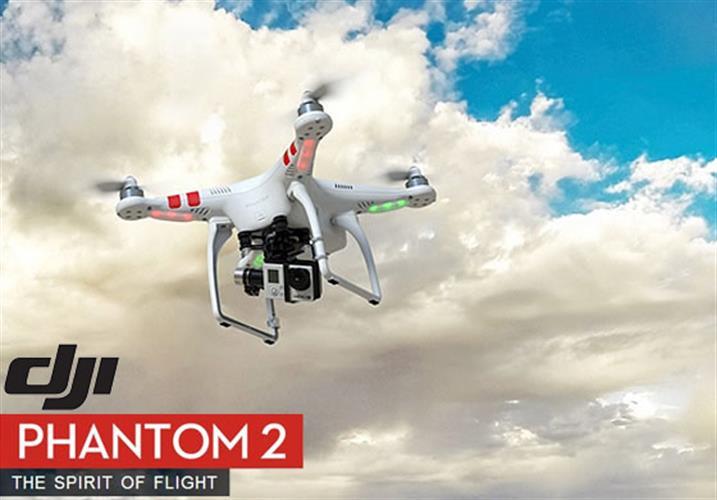 רחפן DJI Phantom 2 מקצועי סוללה חכמה ומוכנות למערכת GIMBAL