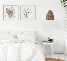 סט הדפסים נורדי לחדר שינה