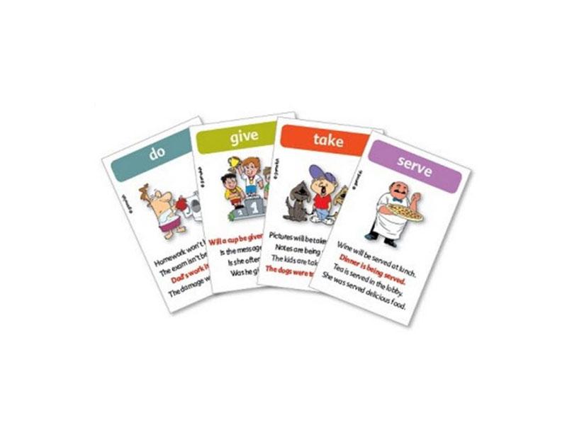 משחק רביעיות באנגלית gamelish | משחק הפעלים (סביל)  the passive verb game