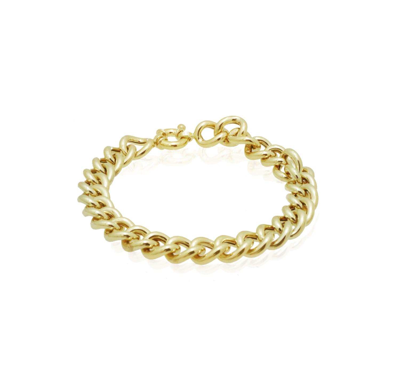 צמיד זהב לאישה חוליות איטלקי מזהב 14 קאראט