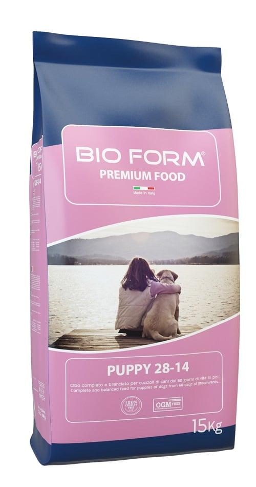 """ביו פורם גורים 15 ק""""ג מזון יבש לכלבים"""