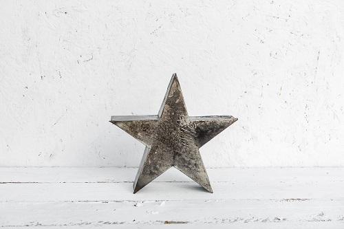 כוכב מתכת בינוני כסוף מושחר