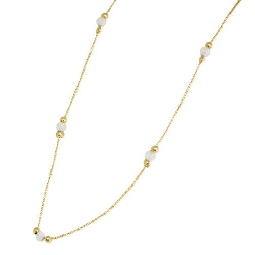 שרשרת זהב אופל וכדורי זהב