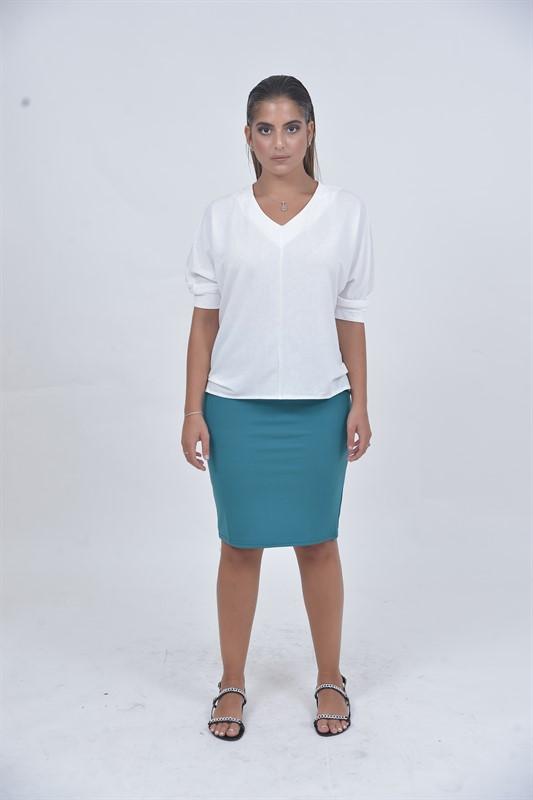 חצאית בסיס אחרי הברך