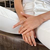 טבעת Broken Lines זהב 14K