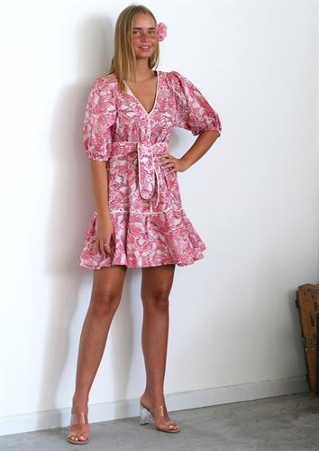 שמלת סוזי ורוד מודפס